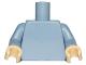 Part No: 973c71  Name: Torso Plain / Sand Blue Arms / Tan Hands