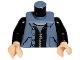 Part No: 973pb0332c01  Name: Torso Spider-Man Pocketed Snap Vest over Black Zippered Jacket Pattern / Black Arms / Light Flesh Hands