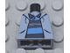 Part No: 973pb0334  Name: Torso Spider-Man Sweatshirt Jacket over Polo Shirt with Horizontal Stripes Pattern