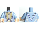 Part No: 973pb0742c01  Name: Torso Harry Potter Dumbledore Dress Robe with Vest Pattern / Sand Blue Arms / Light Flesh Hands