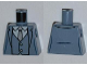 Part No: 973pb1109  Name: Torso Batman Suit with Vest, Gray Tie Pattern