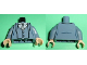 Part No: 973pb1109c01  Name: Torso Batman Suit with Vest, Gray Tie Pattern / Sand Blue Arms / Light Flesh Hands