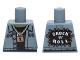 Part No: 973pb2106  Name: Torso Vest over Black Undershirt, Padlock, 'SHOCK 'n' ROLL' Back Pattern