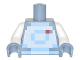 Part No: 973pb2455c01  Name: Torso Pixelated Bright Light Blue and White Space Suit Pattern / White Arms / Sand Blue Hands