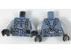 Part No: 973pb2827c01  Name: Torso Scuba Suit with Utility Belt with 3 Pouches Front, 3 Pouches Back Pattern / Light Bluish Gray Arms / Black Hands