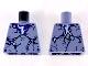 Part No: 973pb2870  Name: Torso Dark Purple Cracks Pattern
