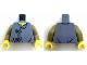 Part No: 973pb3000c01  Name: Torso Robe with 2 Dark Tan Clasps Pattern / Dark Tan Arms / Yellow Hands