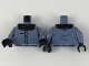 Part No: 973pb3117c01  Name: Torso Shirt with Black Top, Three Buttons, and Wrinkles Pattern / Sand Blue Arms / Black Hands