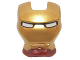 Part No: 10908pb01  Name: Minifigure, Visor Top Hinge with Gold Face Shield and White Eyes Pattern