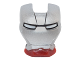 Part No: 10908pb10  Name: Minifigure, Visor Top Hinge with Silver Face Shield, White Eyes and Black Lines on Forehead Pattern