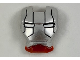 Part No: 10908pb13  Name: Minifigure, Visor Top Hinge with Silver Face Shield, Black Lines on Forehead and Cheeks Pattern