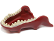 Part No: 18154pb01  Name: Dragon Head (LotR) Lower Jaw with Spikes and Tan Teeth Pattern