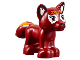Part No: 19532pb01  Name: Fox, Friends / Elves with Black Nose, White around Eyes, Bright Light Orange Face Decorations and Flames on Tail Pattern (Flamy)