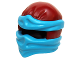 Part No: 19857pb06  Name: Minifigure, Headgear Ninjago Wrap Type 2 with Dark Azure Wraps and Knot Pattern