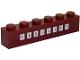 Part No: 3009pb202  Name: Brick 1 x 6 with 'FACILITY' on White Squares Pattern (Sticker) - Set 70910