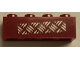 Part No: 3010pb195  Name: Brick 1 x 4 with Silver Tread Plate on Transparent Background Pattern (Sticker) - Sets 7298 / 7477