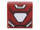 Part No: 3070bpb094  Name: Tile 1 x 1 with Iron Man Armor and White Hexagonal Reactor Pattern