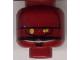 Part No: 3626bpb0111  Name: Minifigure, Head Alien with SW EV-9D9 Droid, Yellow Eyes Pattern - Blocked Open Stud