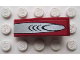 Part No: 50950pb016  Name: Slope, Curved 3 x 1 No Studs with Silver Finger Pattern (Sticker) - Set 8113