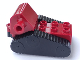 Part No: 52067c01  Name: Duplo Crawler Backhoe Caterpillar 4 x 5 x 3 with Black Undercarriage with Four Wheels and Fake Treads