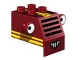 Part No: 54004pb01  Name: Duplo Forklift Front with Grille, Yellow Stripes and White Headlight Eyes Pattern (Sumsy)