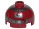 Part No: 553pb016  Name: Brick, Round 2 x 2 Dome Top with Silver Pattern (R4-P17)
