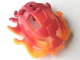 Part No: 64320pb01  Name: Bionicle Mask Raanu with Marbled Trans-Orange Pattern