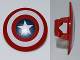 Part No: 75902pb01  Name: Minifigure, Shield Round with Rounded Front with Bullseye with Captain America Star Pattern