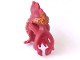 Part No: 87757pb01  Name: Minifigure, Headgear Head Cover, Squid with Yellow Pattern