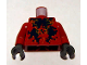 Part No: 973pb0621c01  Name: Torso Atlantis Squid Pattern / Dark Red Arms / Dark Bluish Gray Hands