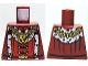 Part No: 973pb0697  Name: Torso Castle Kingdoms Lion Head Medallion and Fur Trim Pattern