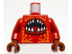 Part No: 973pb0756c01  Name: Torso Atlantis Lobster with Open Mouth Pattern / Dark Red Arms / Reddish Brown Hands