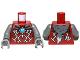 Part No: 973pb1351c01  Name: Torso Armor Vest with Silver Markings, Fur Animal Pelt and Dark Azure Round Jewel (Chi) Pattern / Dark Bluish Gray Arms / Dark Bluish Gray Hands