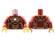 Part No: 973pb1390c01  Name: Torso Armor with White Circle and Gold Plates (Mark 42) Pattern / Dark Red Arms / Pearl Gold Hands
