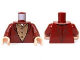 Part No: 973pb1439c01  Name: Torso LotR Elven Coat with Gold Scrollwork Pattern (Elrond) / Dark Red Arms / Light Flesh Hands