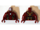 Part No: 973pb1937c01  Name: Torso Armor with White Circle and Gold Plates (Mark 43) Pattern / Dark Red Arms / Dark Red Hands