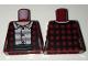 Part No: 973pb2467  Name: Torso Female Jacket / Vest Plaid over Striped Button Down Shirt Pattern