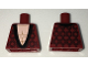 Part No: 973pb2559  Name: Torso Dressing Gown Robe Brocade with Black Collar over Light Flesh Bare Chest Pattern
