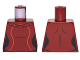 Part No: 973pb2649  Name: Torso Female Outline, Black Neckline and Collarbones, 2 Red Stripes Pattern