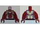Part No: 973pb3064c01  Name: Torso Armor with White Circle and Gold and Silver Plates (Iron Man MK 43) Pattern / Dark Red Arms / Dark Red Hands