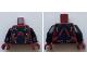 Part No: 973pb3176c01  Name: Torso Dark Blue Armor with Silver Clasps Pattern (ATOM) / Black Arms / Dark Red Hands