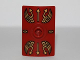 Part No: 98367pb01  Name: Minifigure, Shield Rectangular Curved with Stud with Gold Lightning Wings and Arrows Pattern