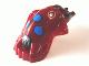 Part No: x1867px1  Name: Minifigure, Head Modified Bionicle Barraki Kalmah with Blue Eyes Pattern