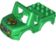 Part No: 20497pb02  Name: Duplo Car Body Off Road with Headlights, Giraffe, and Paw Print Pattern