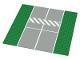 Part No: 2358p02  Name: Baseplate, Road 32 x 32 7-Stud Straight with Runway Crosswalk Pattern