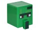 Part No: 23766pb003  Name: Minifigure, Head Modified Cube Tall with Raised Rectangle and Minecraft Zombie Villager Pattern