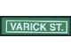Part No: 2431pb030  Name: Tile 1 x 4 with 'VARICK ST.' Pattern (Sticker) - Set 4853