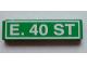 Part No: 2431pb053  Name: Tile 1 x 4 with 'E. 40 ST' Pattern (Sticker) - Set 4850