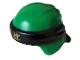 Part No: 24496pb10  Name: Minifig, Headgear Ninjago Wrap Type 3 with Black Bandana and Knot and Gold Asian Symbol Pattern