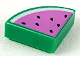 Part No: 25269pb005  Name: Tile, Round 1 x 1 Quarter with Dark Pink Watermelon Pattern